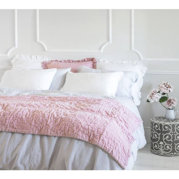 Olivia Ruffle Pure Linen | Luxury Bed Linen