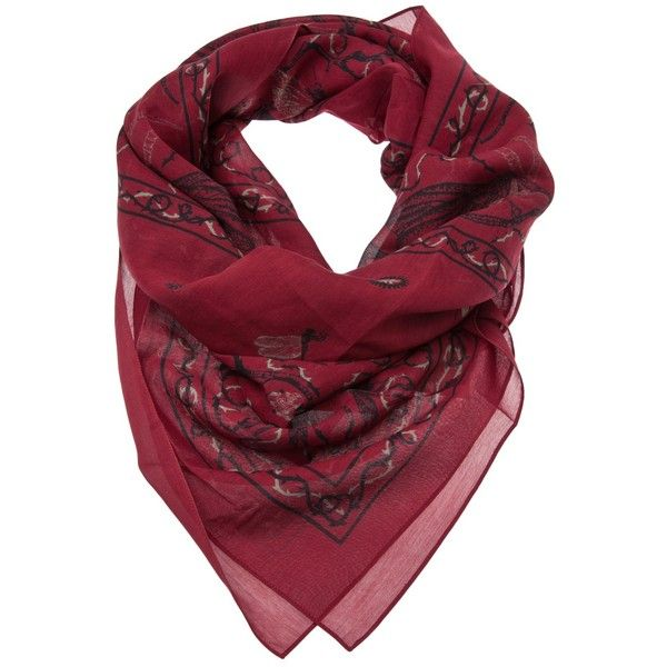 MCQ BY ALEXANDER MCQUEEN Bandana scarf ($32,230) ❤ liked on Polyvore
