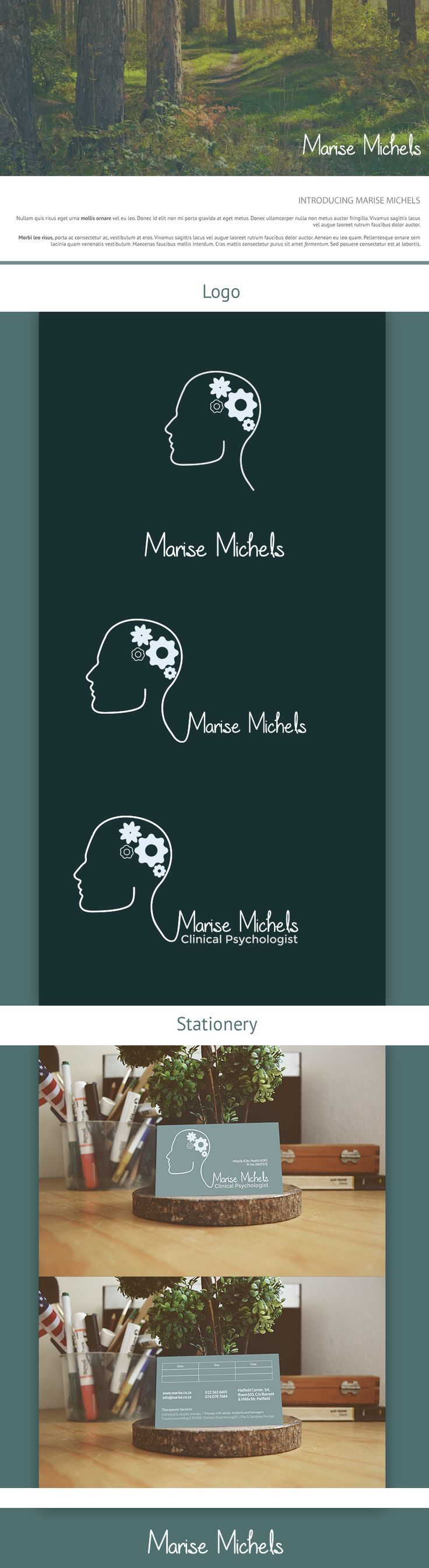 Logo and Business Card design for local Psychologist.:
