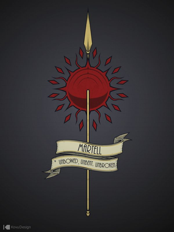 Game of Thrones custom house sigils, House Martell