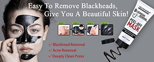 Neutriherbs Black Head Remover Mask, Deep Cleansing Purifying Peel-Off Facial Mask, Face Mask For Facial Treatments, Acne and Blackheads, Refine Skin Pores, Black Mud Charcoal Mask: leluna ltd