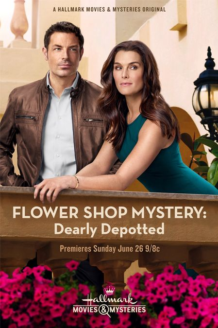 "A Hallmark Wedding Mystery starring Brooke Shields and Brennan Elliott in ""Flower Shop Mystery: Dearly Depotted"""