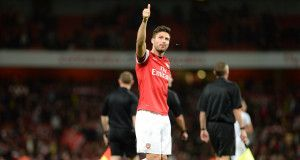 Olivier Giroud of Arsenal gives thumbs up Photo Credit: JoshJdss Flickr