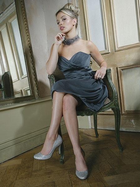 Lauren AB silver glitter shoes