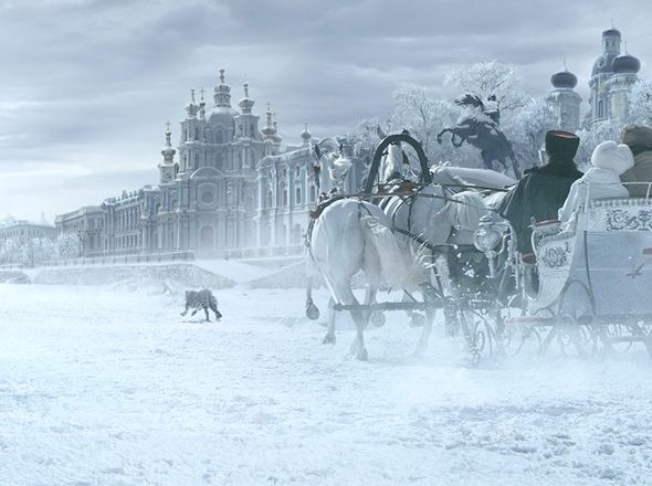 The Cartier panther in Saint Petersburg