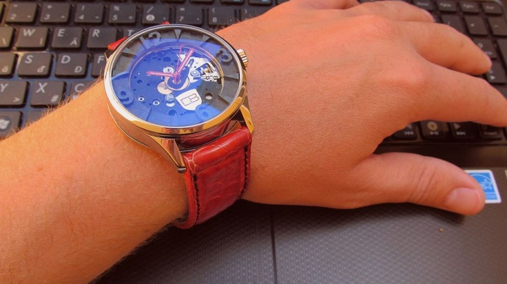 CARBON8 ILLEGAL RACER the CYLINDER BLOCK design watch
