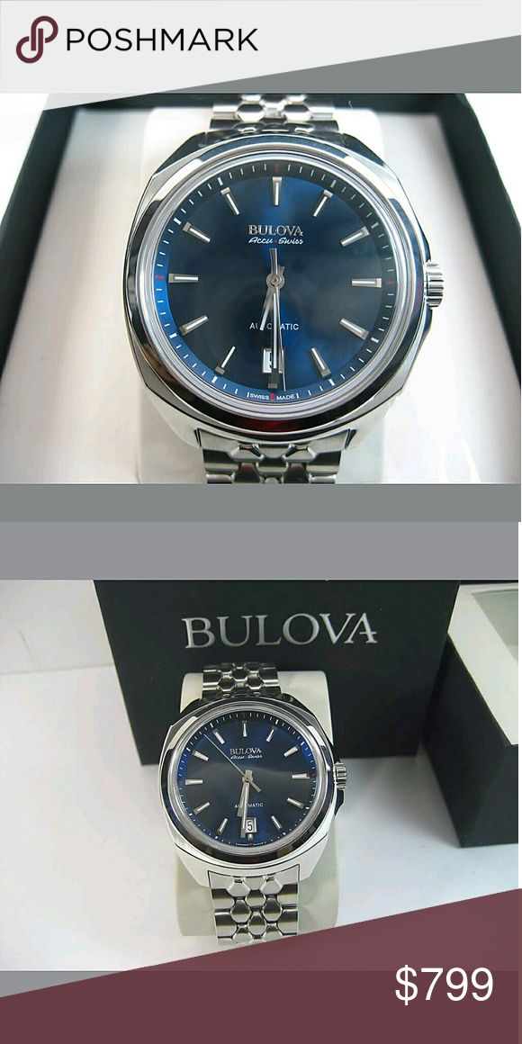 NWT Bulova $1,500 accu-swiss automatic watch NWT $1,500 NWT BULOVA ACCU-SWISS AUTOMATIC SWISS MADE MEN'S WATCH.    Price  $799.00  . AUTHENTIC WATCH  . AUTHENTIC BOX  . AUTHENTIC MANUAL    SHIPPING PLEASE ALLOW FEW BUSINESS DAYS FOR ME TO SHIPPED IT OFF.I HAVE TO GET IT FROM MY STORE.     THANK YOU FOR YOUR UNDERSTANDING. Bulova Accessories Watches