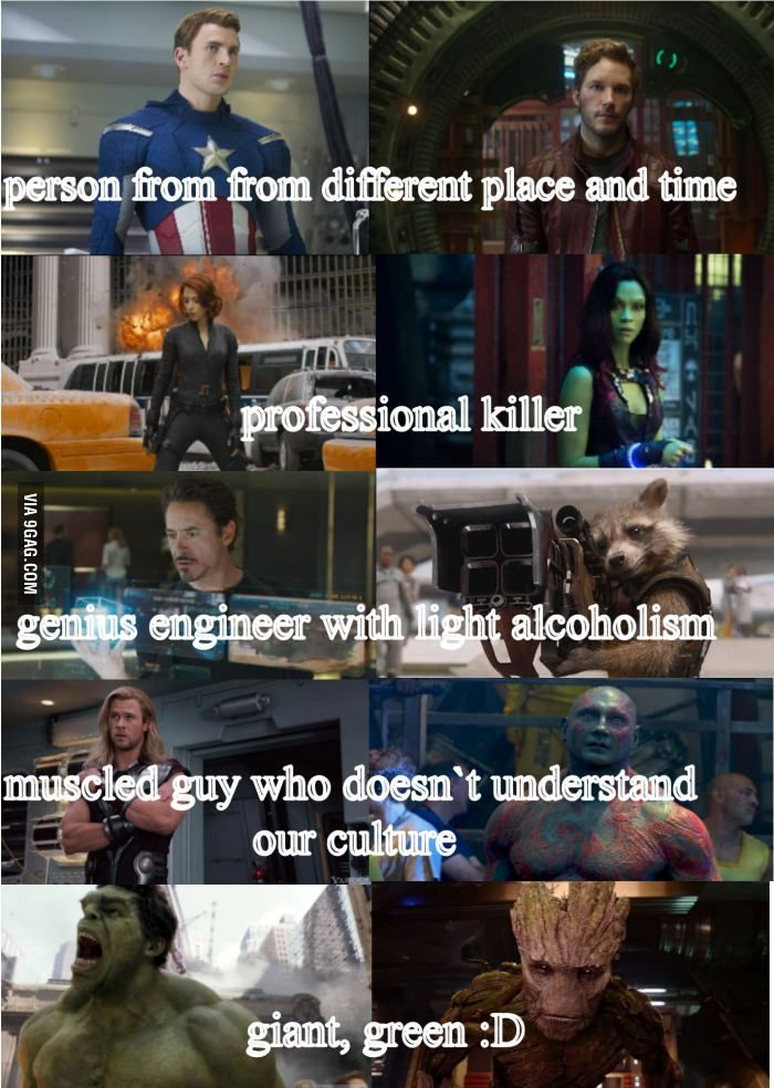 I am the only one who saw the resemblance between Avengers and Guardians of the galaxy?