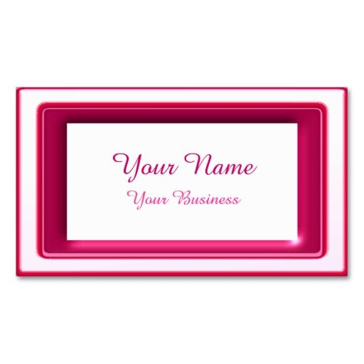 Minimalist pink Framed Business Cards