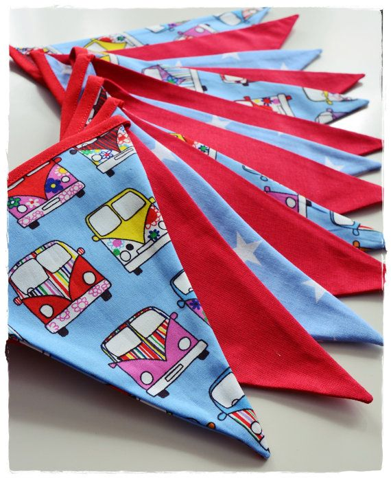 Car Garland  - Bunting Banner . Flag Bunting . Pennant Banner . Flag Garland . Party Decoration . Fabric Bunting