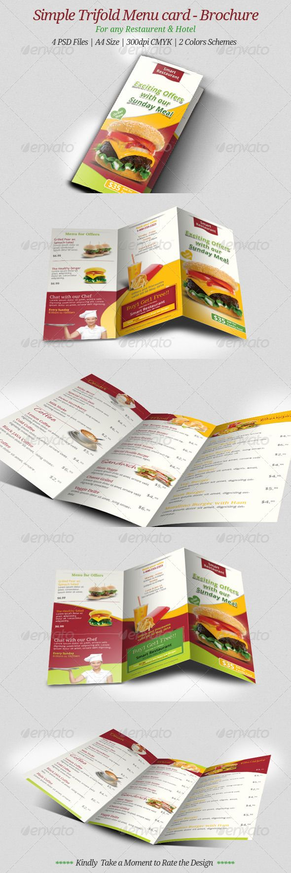 1867 best food restaurant menu flyre templates images on simple trifold menu card brochure pronofoot35fo Choice Image