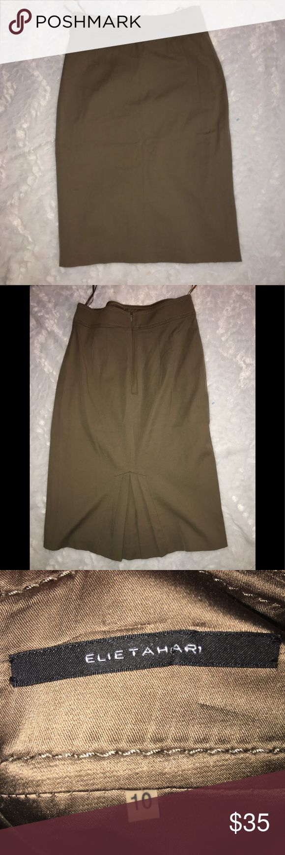 Elie tahari pencil skirt brown size 20 You are purchasing a women's elie tahari brown pencil skirt. Size 10 Elie Tahari Skirts Pencil