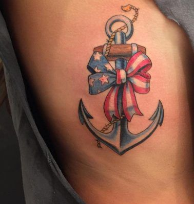 anchor tattoos on ribs