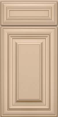 Door Detail - Square Raised Panel - Solid (AA1M) Maple in Mushroom w/Cocoa Glaze - KraftMaid Cabinetry