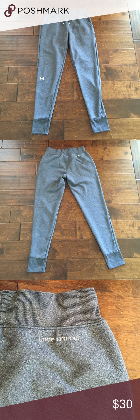Women's Grey Under Amor Sportstyle Joggers Women's Grey Under Amor Sportstyle Joggers.  Worn once.  Just now my style.  In excellent condition. Under Armour Pants Track Pants & Joggers