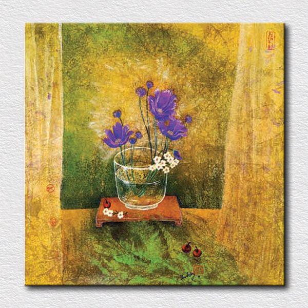 Вид маленький цветок холсте картины на стене воспроизведение картины маслом закрытый картинки для спальни украшения