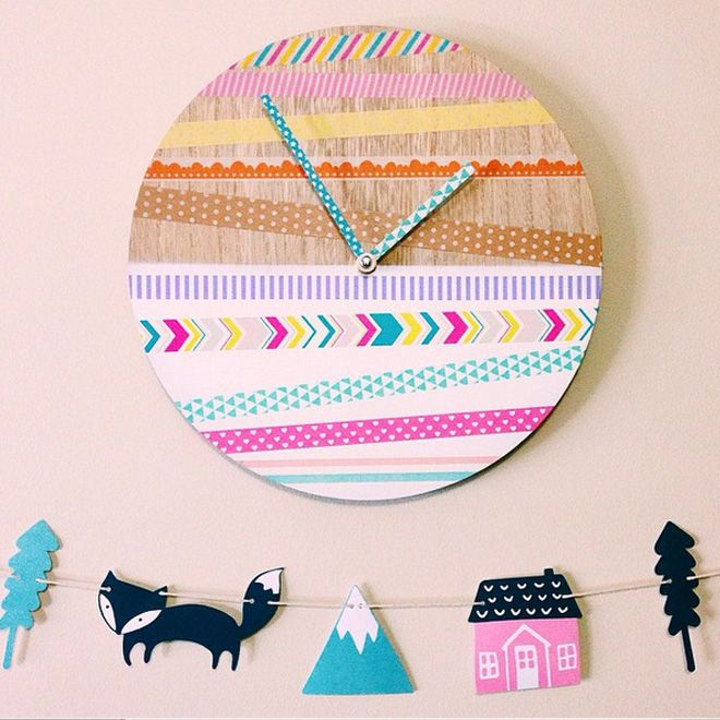 We love a washi tape makeover - so easy to do! This Kmart clock hack is an absolute winner!