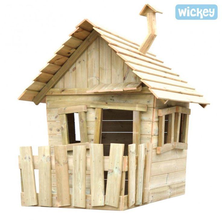 Houten speelhuisje Wickey`s Villa voor in de tuin