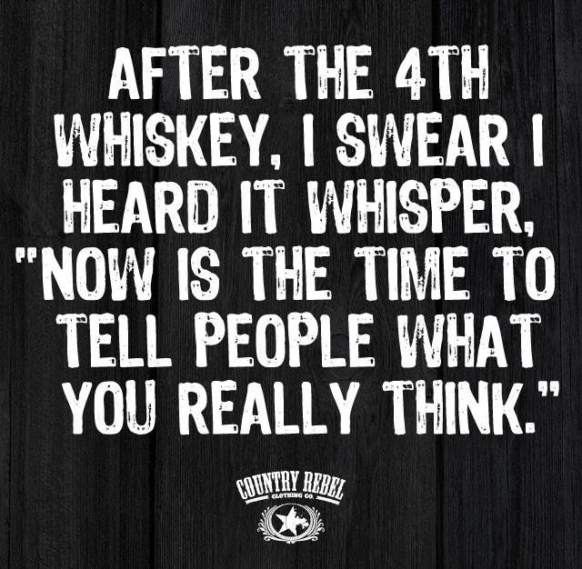 I do not see liquid courage as a bad thing, at all!!!