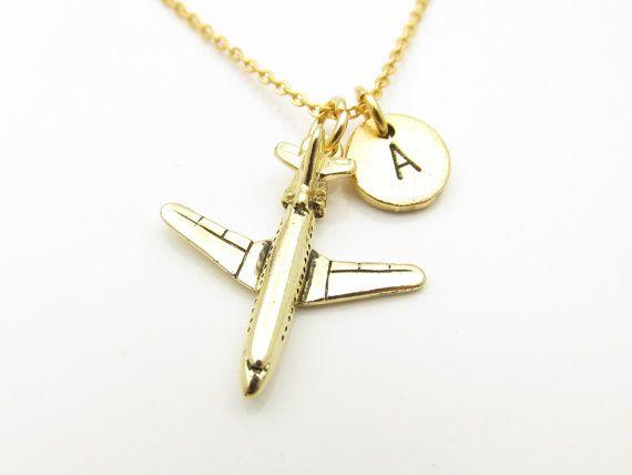 Flugzeug-Halskette Jet-Flugzeug-Halskette von CranberryStreetNY
