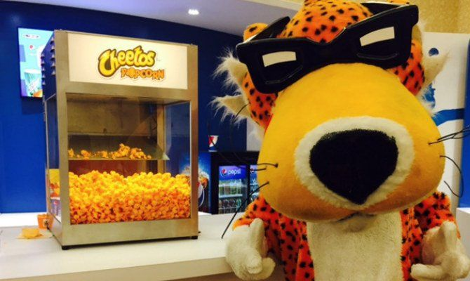 Who else is as excited as we are about #Cheetos-flavored #popcorn? #food #movies