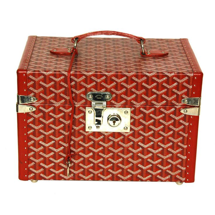 GOYARD Red Hard Toiletries Case (Rt. $3,800) | From a collection of rare vintage other at http://www.1stdibs.com/fashion/ephemera/other/