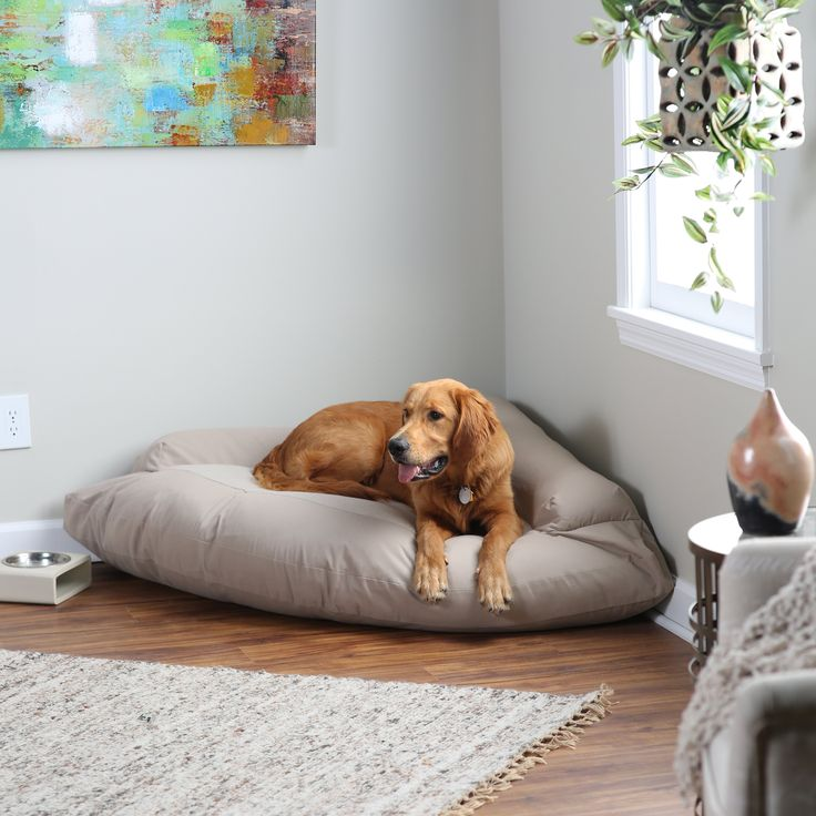 Hidden Valley Corner Bolster Dog Bed - Extra Large - CBB/KHK/XL