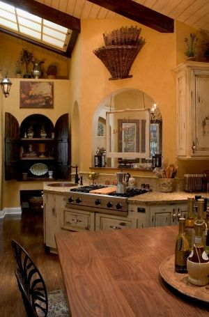 tuscan style kitchen. in love.