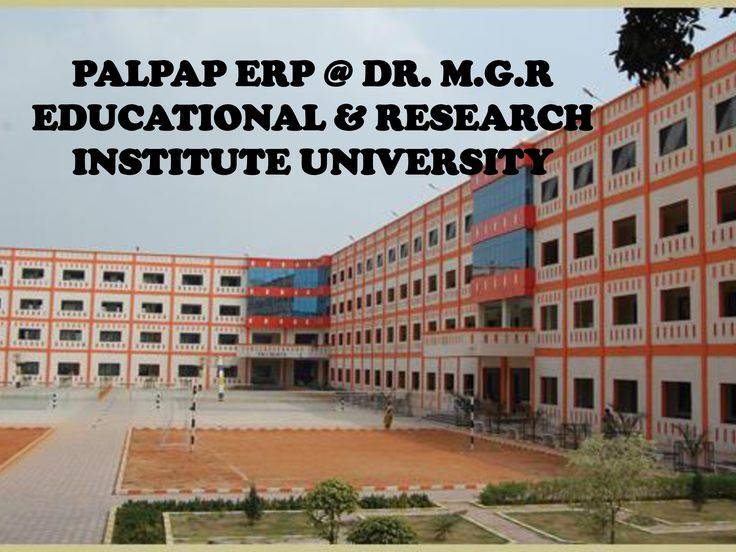 PALPAP ERP @ DR. M.G.R EDUCATIONAL AND RESEARCH INSTITUTE UNIVERSITY