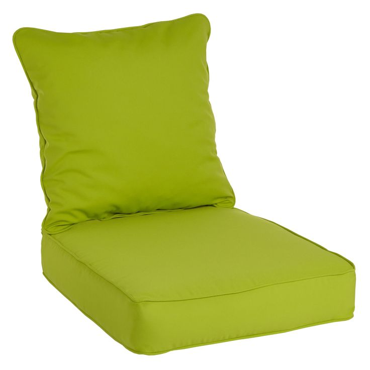 Clara Wicker Outdoor Arm Chair Cushion/ Throw Pillow Set With Sunbrella  Fabric (Canvas Macaw), Green (Acrylic), Outdoor Cushion Part 93