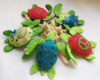 Ornamento di tartaruga feltro animali decorazioni vivaio