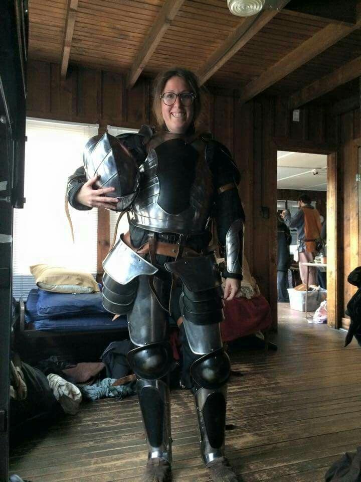 Knight Costume Sca Larp Armor Full Plate Armor Black
