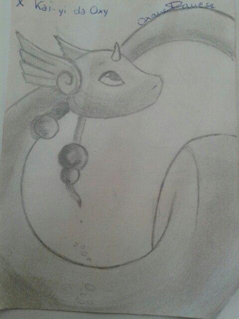 Drawing Hastra ~Pokemon dragonair~