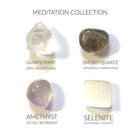 DESCRIPTION:::::::::: MEDITATION CRYSTAL COLLECTION CHOOSE FROM THE DROP DOWN MENU DURING CHECK OUT::::::: 4- pack = 1 quartz point, 1 smoky quartz, 1 selenite, 1 amethyst 8 - pack= 2 quartz point, 2 smoky quartz, 2 selenite, 2 amethyst 12 - pack= 3 quartz point, 3 smoky quartz, 3