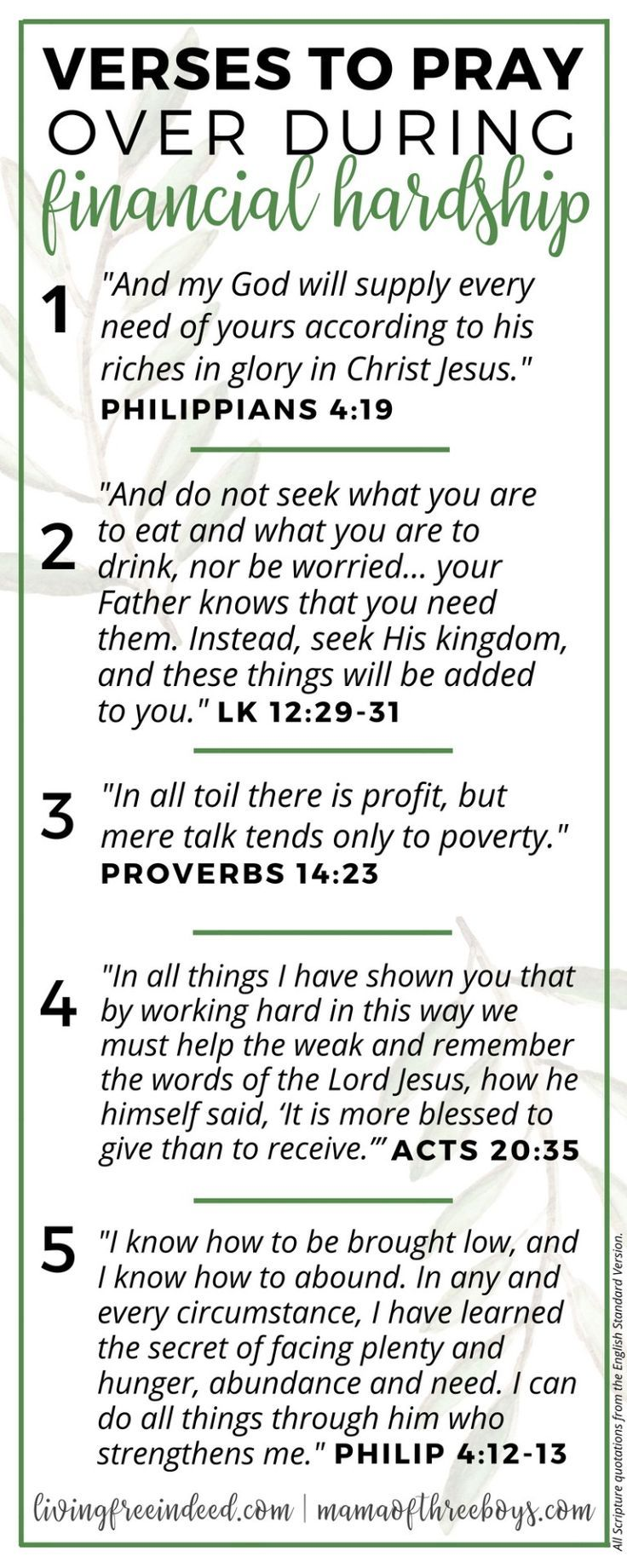 6 Verses To Pray During Financial Hardship | Scripture Study