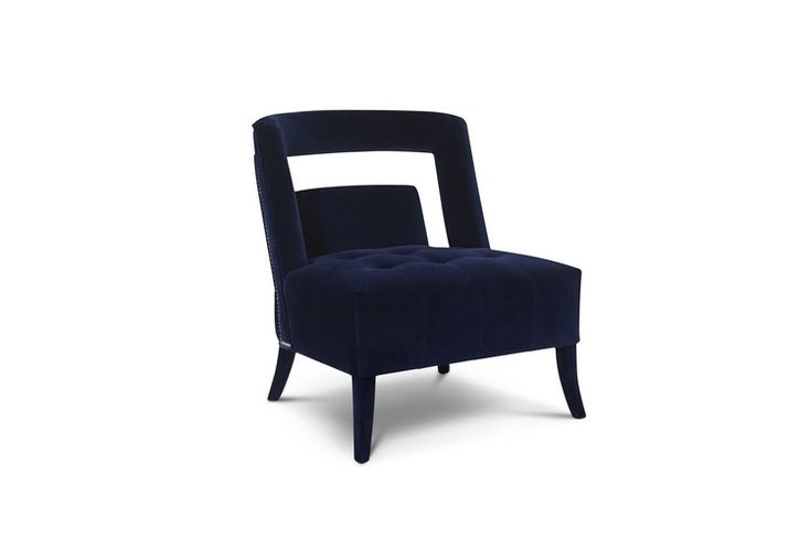 Living Room Ideas – how to be bold with mid-century upholstered chairs | NAJ blue velvet chair @brabbu | #modernchairs #velvetchairs #upholstery