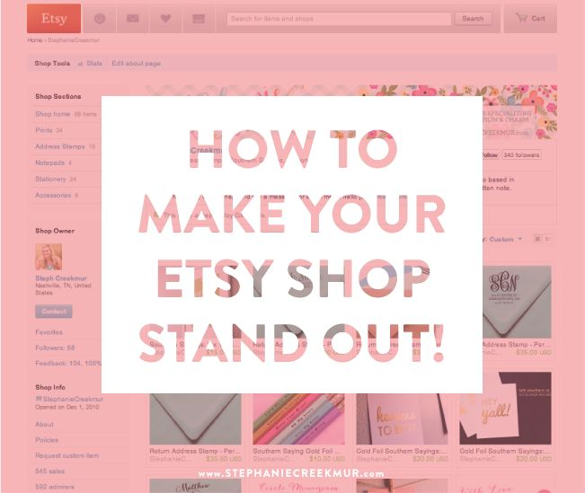 Selling on Etsy: How to Set Yourself Apart via Stephanie Creekmur