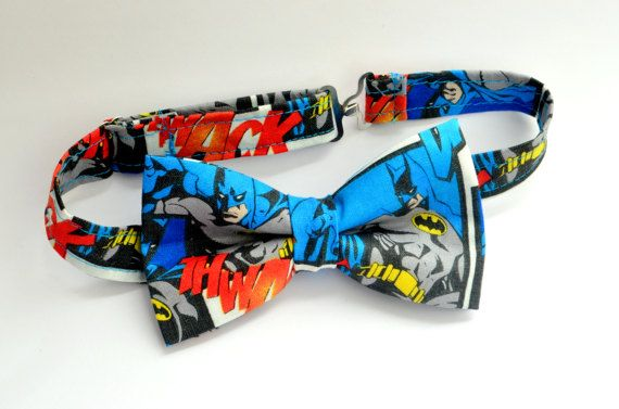 Batman Bow Tie-Kids Bow Ties-Superhero Bow Tie-Men's Bow Ties-Character Bow Ties-Boys Bow Ties