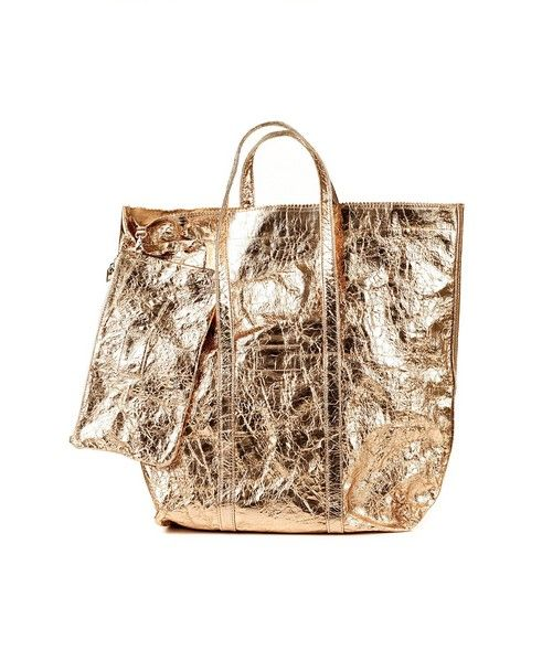 ZILLA Shopper with handles laminated gold leather lining coin-purse included Size: 44x49x15 cm