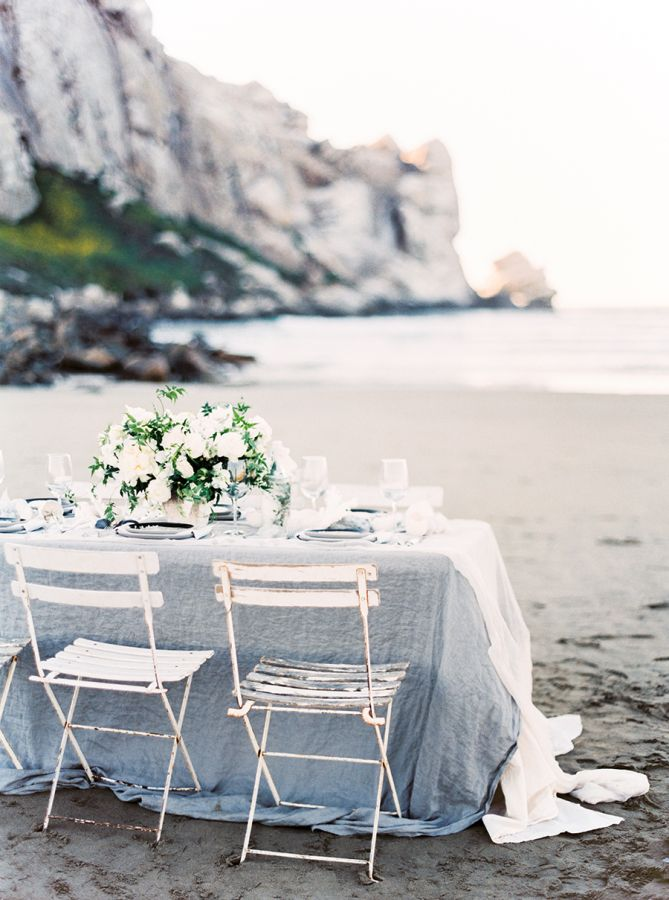 Winter white beach wedding inspiration: http://www.stylemepretty.com/2016/01/19/coastal-winter-white-wedding-inspiration/ | Photography: Sally Pinera - http://sallypinera.com/