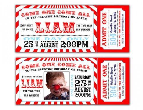 Invitaciones para Fiestas Circo | fiesta circo | Pinterest