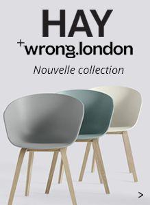 Découvrez la collection de mobilier design scandinave Hay. Chaises (About A Chair), tables et accessoires de décoration en vente sur Made In Design !