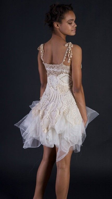 The Doily Dress --made to order
