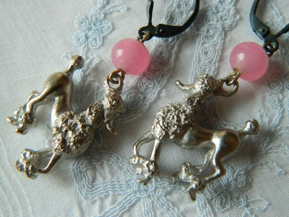 Assemblage Earrings French Poodles by 58diamond by 58Diamond