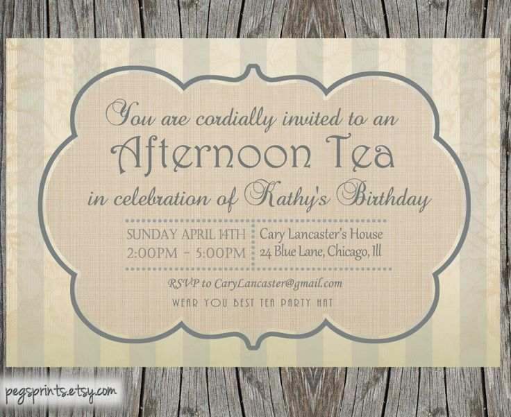 morning tea invitation template free - high tea invitation template party idees pinterest
