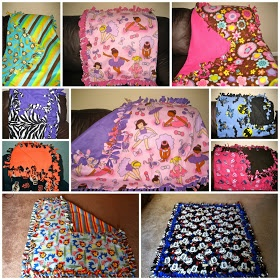 Mommas Like Me: No Sew Fleece Tie Blanket {Tutorial} I enjoy making these. I've made so many for so many people. :)