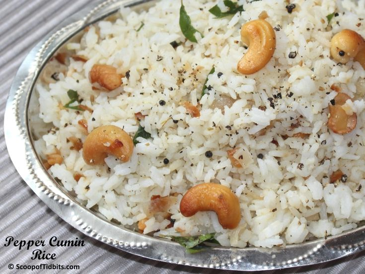 Pepper Cumin Rice is a healthy dish, a South Indian style rice preparation that can be made in a jiffy. Pepper and cumin are two very popular spices in Ind