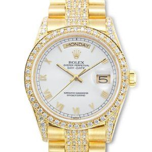 THE ULTIMATE ROLEX WITH DIAMONDS FOR HER! Price is marked 42% off! $27,286.88. #Women's Rolex Watch #Rolex #Diamonds