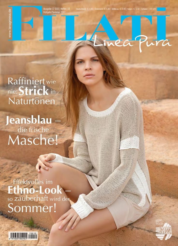 Lana Grossa LINEA PURA No. 10 - Magazine (DE) + Knitting instructions (EN) | FILATI-Shop Lana Grossa-Store.com