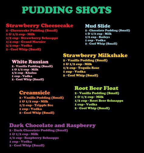 Dessert Pudding Shots for grown folks!! What??? I'm gonna make big bowls instead of shots! lol